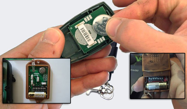 Pin remote cửa cuốn thay thế nào?